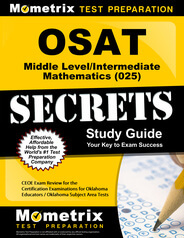 OSAT Middle Level/Intermediate Mathematics Study Guide