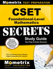 CSET Foundational-Level Mathematics Study Guide