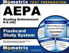 AEPA Reading Endorsement K-8 Flashcards