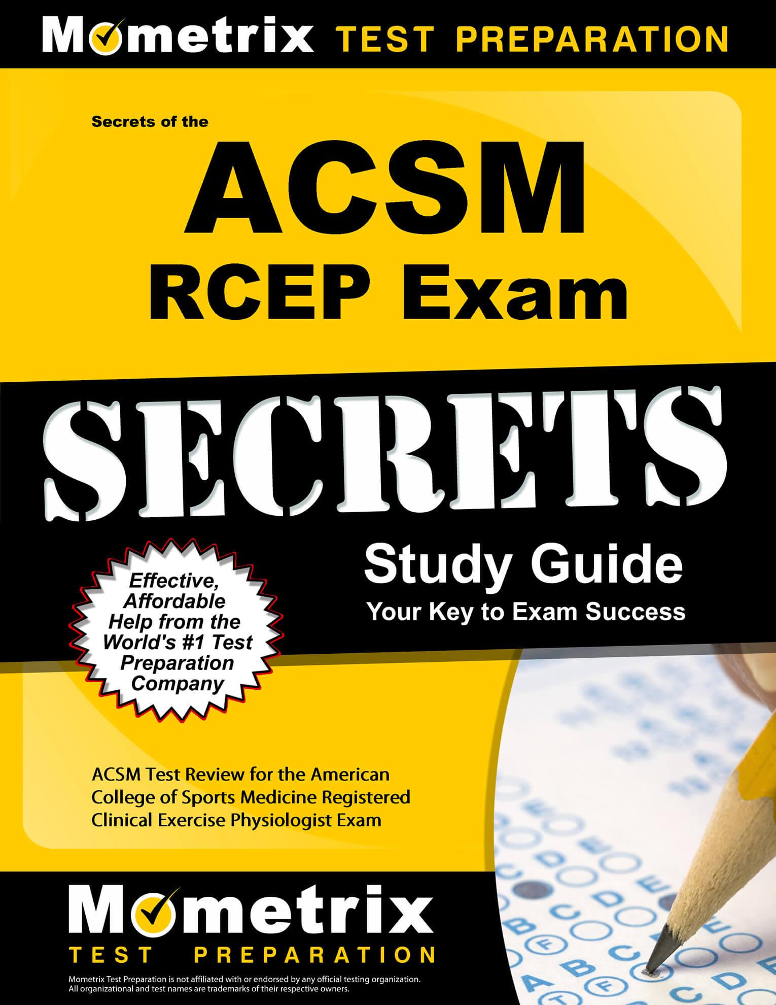 ACSM Test Prep Help (updated 2019)
