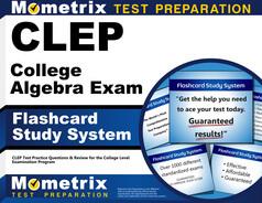 CLEP College Algebra Flashcards
