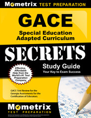 GACE Special Education Adapted Curriculum Study Guide