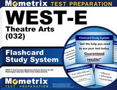 WEST-E Theatre Arts Flashcards