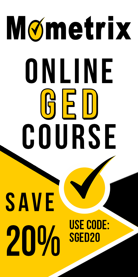 Save 20% on Mometrix GED online course. Use code: SGED20.