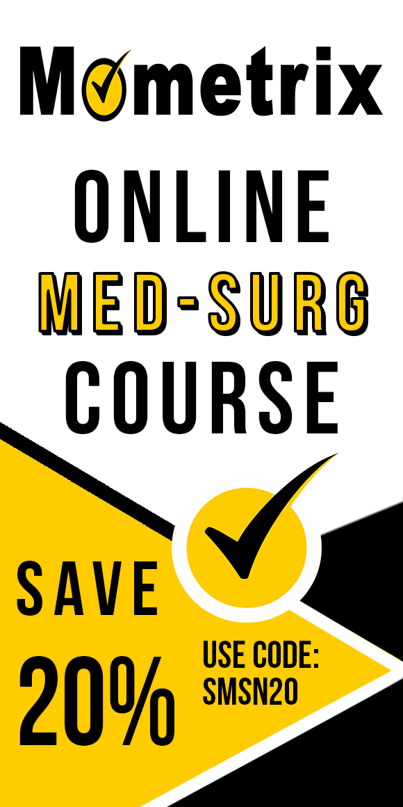 Click here for 20% off of Mometrix Medical-Surgical Nurse online course. Use code: SMSN20