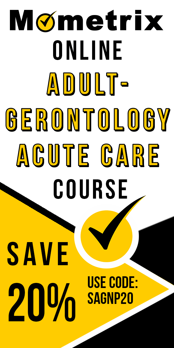 Click here for 20% off of Mometrix Adult-Gerontology Acute Care Nurse Practitioner online course. Use code: SAGNP20