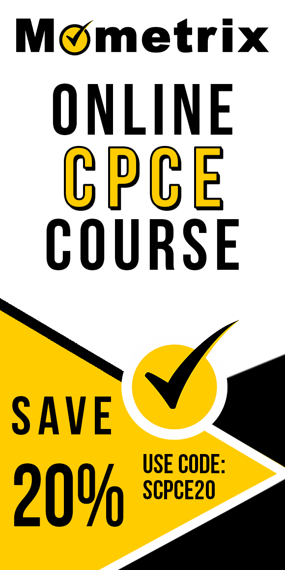 Click here for 20% off of Mometrix CPCE online course. Use code: SCPCE20