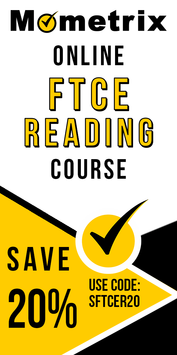 Click here for 20% off of Mometrix FTCE Reading online course. Use code: SFTCER20