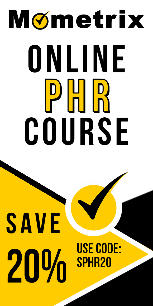 Click here for 20% off of Mometrix PHR online course. Use code: SPHR20