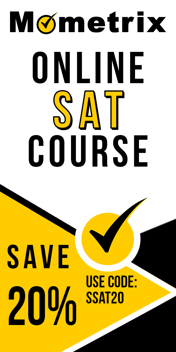Click here for 20% off of Mometrix SAT online course. Use code: SSAT20