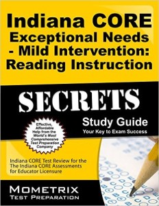 Indiana CORE Exceptional Needs reading sg