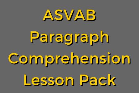 ASVAB Paragraph Comprehension – Lesson Pack
