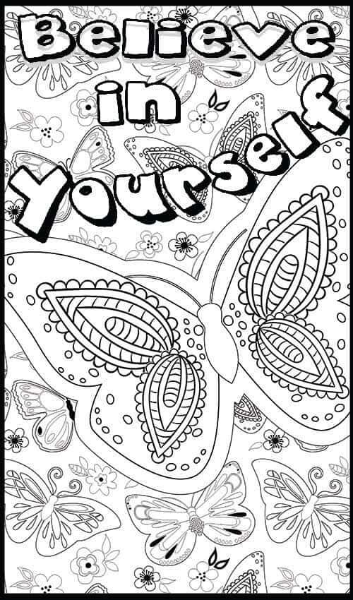 """De-Stress Fest - FREE """"Believe In Yourself"""" [Coloring Sheet] - Mometrix Blog"""