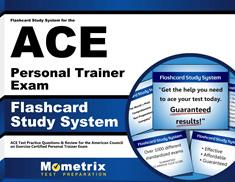 Flashcards Study System for the ACE Personal Trainer Exam
