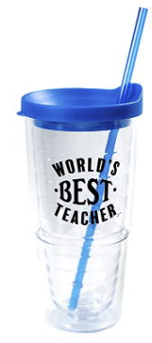Teacher Appreciation Gifts - World's Best Teacher Cup - Teacher Gifts for Women & Gifts for Teachers Appreciation - Double Wall Solid Clear Acrylic Tumblers