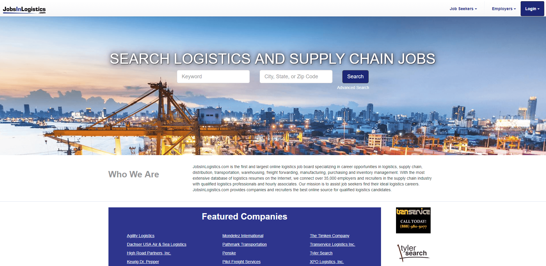 Click to go to JobsInLogistics.com