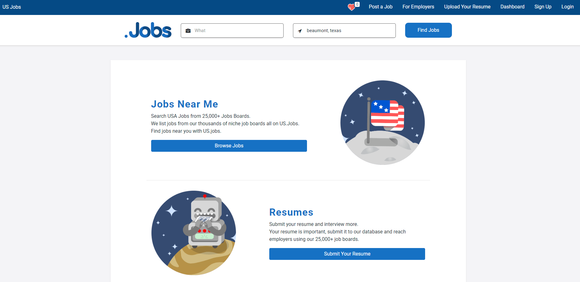 Click to go to US.jobs