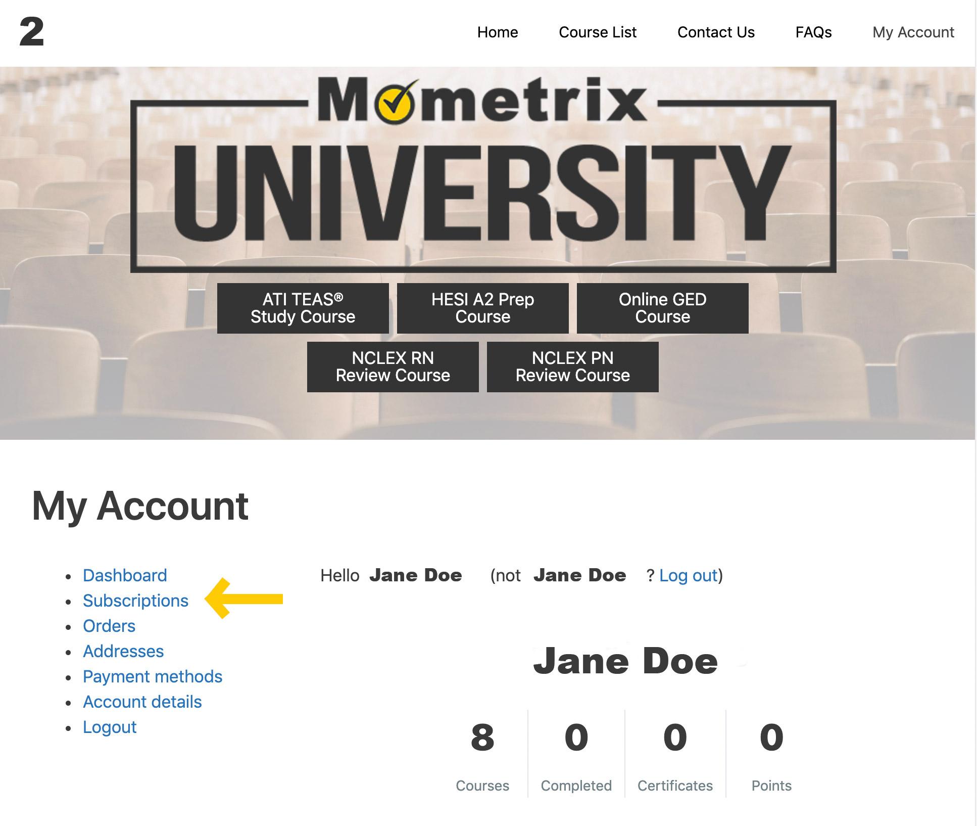 Mometrix University subscription