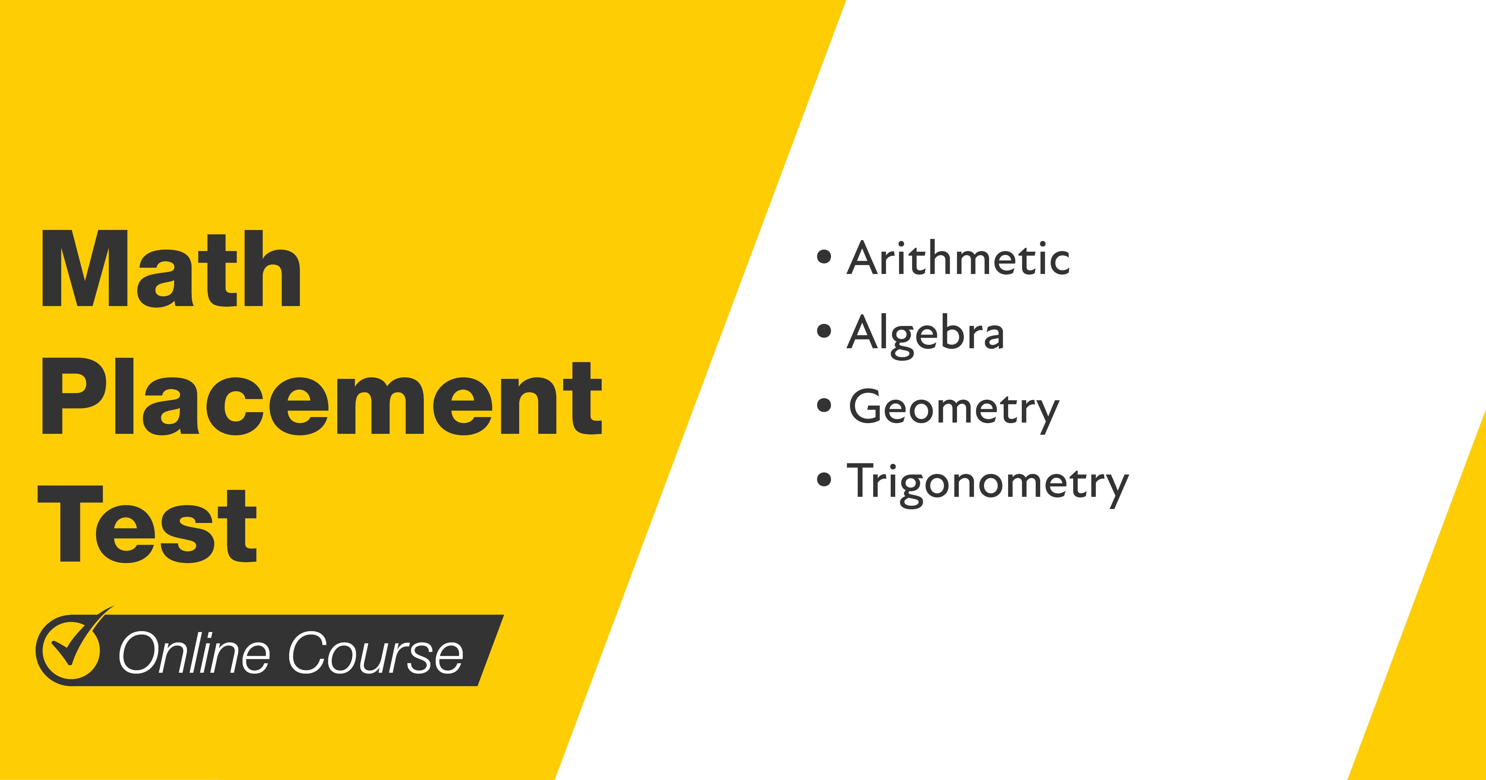 Mometrix Math Placement Test Course