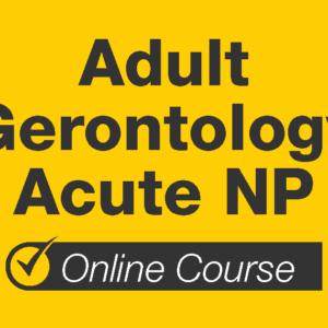 Adult Gerontology Acute NP Online Course