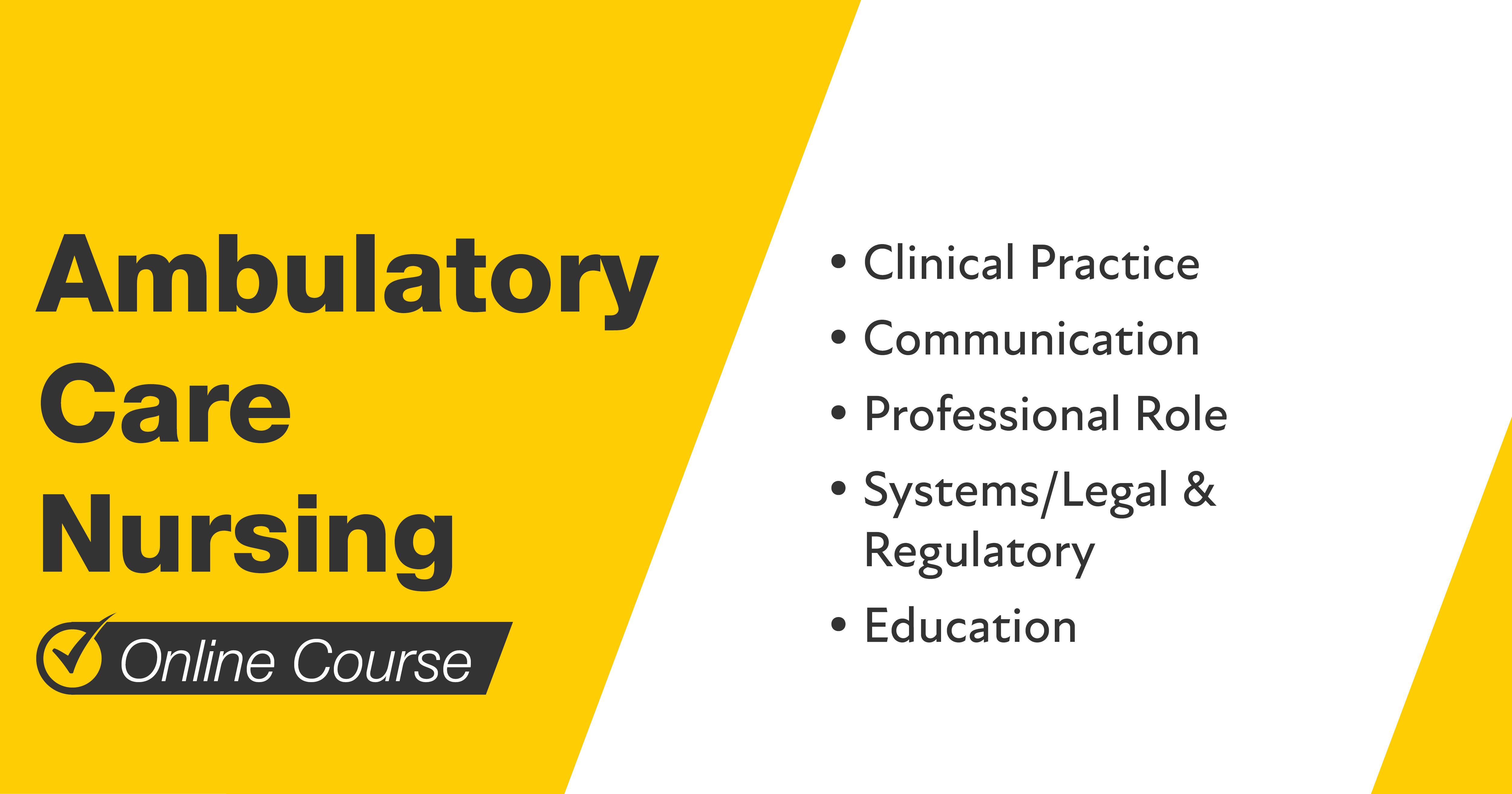 Ambulatory Care Nursing Online Course