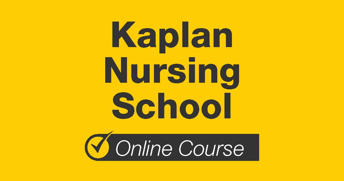 Kaplan Nursing School Online Course