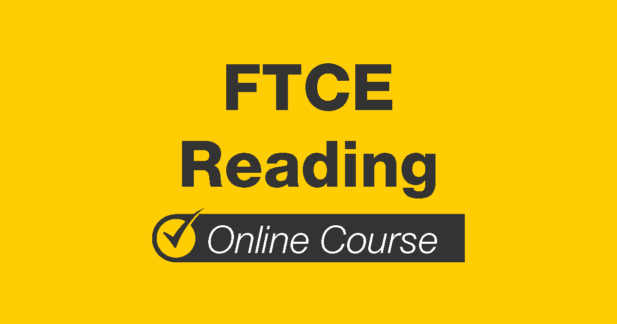 A graphic with FTCE Reading written at the top followed by the Mometrix symbol and the words Online Course at the bottom.