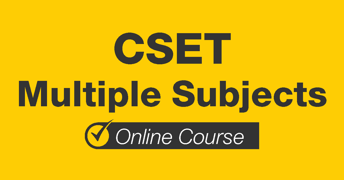 CSET Multiple Subjects